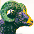 Fine Art - Work on Paper:Print, ANDY WARHOL (American, 1928-1987). Bighorn Sheep, 1983.Published in the portfolio Endangered Species. Screenprinti...