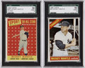 Baseball Cards:Lots, 1958-66 Topps Mickey Mantle SGC 50 VG/EX 4 Group Lot of 2....