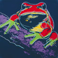 Fine Art - Work on Paper:Print, ANDY WARHOL (American, 1928-1987). Pine Barrens Tree Frog,1983. Published in the portfolio Endangered Species. Scre...