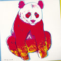 Fine Art - Work on Paper:Print, ANDY WARHOL (American, 1928-1987). Giant Panda, 1983.Published in the portfolio Endangered Species. Screenprintin ...