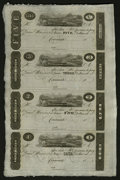 Obsoletes By State:Ohio, Cincinnati, OH- Unknown Issuer $5-$3-$2-$1 Post Notes Uncut Sheet....