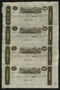 Obsoletes By State:Ohio, Cincinnati, OH- Unknown Issuer $5-$3-$2-$1 Post Notes Uncut Sheet.... (Total: 1 sheet)