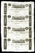 Obsoletes By State:Ohio, Cincinnati, OH- Unknown Issuer $5-$3-$2-$1 Uncut Sheet of PostNotes 18__. ...