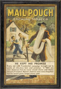 Advertising:Paper Items, Mail Pouch Chewing Tobacco Poster....