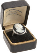 Political:Small Miscellaneous (pre-1896), Abraham Lincoln: An Exceptional Cameo Portrait Ring Set In 14 Karat White Gold....