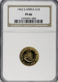1962 G1R S.Africa PF66 NGC. NGC Census: (0/0). PCGS Population (0/0). (#881000)