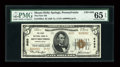 National Bank Notes:Pennsylvania, Mount Holly Springs, PA - $5 1929 Ty. 2 The First NB Ch. # 8493....