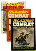 Magazines:Miscellaneous, Blazing Combat #1, 2, and 4 Group (Warren, 1965-66).... (Total: 3Comic Books)