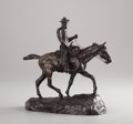 Sculpture, CHARLES MARION RUSSELL (American, 1864-1926). Will Rogers, posthumous cast circa 1950s. Bronze with patina. 10-1/2 x 11 ...