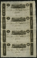 Obsoletes By State:Ohio, Cincinnati, OH- Unknown Issuer $5-$3-$2-$1 Uncut Sheet of PostNotes. ...