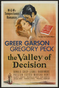 "Movie Posters:Drama, The Valley of Decision (MGM, 1945). One Sheet (27"" X 41""). Drama...."