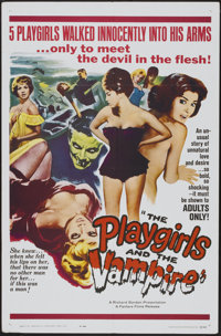 "The Playgirls and the Vampire (Fanfare, 1963). One Sheet (27"" X 41""). Horror"