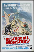 "Movie Posters:Science Fiction, Destroy All Monsters (American International, 1969). One Sheet (27""X 41""). Science Fiction...."