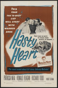 """Movie Posters:War, Hasty Heart (Warner Brothers, 1950). One Sheet (27"""" X 41""""). War...."""
