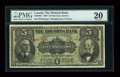 Canadian Currency: , Montreal, P.Q.- The Molsons Bank $5 Jan. 2, 1908 Ch. # 490-30-02....