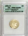 Modern Issues: , 1999-W G$5 Washington Gold Five Dollar PR69 Deep Cameo ICG. NGC Census: (1000/692). PCGS Population (1780/54). Numismedia ...