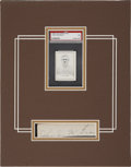 Autographs:Letters, John McGraw Cut Signature Display....