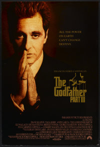"""The Godfather Part III (Paramount, 1990). One Sheet (27"""" X 40"""") SS. Crime"""
