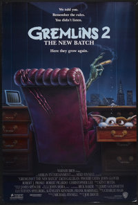 "Gremlins 2: The New Batch (Warner Brothers, 1990). One Sheet (27"" X 40"") DS. Fantasy"