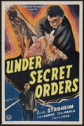 "Movie Posters:War, Under Secret Orders (Guaranteed Pictures, 1943). One Sheet (27"" X41""). War...."