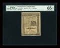Colonial Notes:Pennsylvania, Pennsylvania April 25, 1776 2s PMG Gem Uncirculated 65 EPQ....