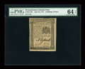 Colonial Notes:Pennsylvania, Pennsylvania April 25, 1776 2s6d PMG Choice Uncirculated 64 EPQ....