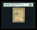 Colonial Notes:Pennsylvania, Pennsylvania December 8, 1775 20s PMG Gem Uncirculated 65 EPQ....