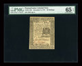 Colonial Notes:Pennsylvania, Pennsylvania December 8, 1775 30s PMG Gem Uncirculated 65 EPQ....