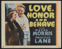 """Love, Honor and Behave (Warner Brothers, 1938). Other Company Title Lobby Card (11"""" X 14""""). Drama"""