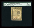 Colonial Notes:Pennsylvania, Pennsylvania December 8, 1775 40s PMG Choice Uncirculated 64....