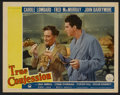 "Movie Posters:Comedy, True Confession (Paramount, 1937). Lobby Card (11"" X 14"").Comedy...."