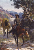 Paintings, CHARLES ABEL CORWIN (American, 1857-1938). Bandit, 1894. Oil on canvas. 14-1/4 x 10 inches (36.2 x 25.4 cm). Signed and ...