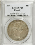Coins of Hawaii: , 1883 $1 Hawaii Dollar XF45 PCGS. PCGS Population (107/226). NGCCensus: (38/165). Mintage: 500,000. (#10995)...