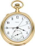 Timepieces:Pocket (pre 1900), Tiffany & Co. Gold Split Seconds Chronograph, circa 1880's. ...