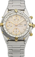 Timepieces:Wristwatch, Breitling Men's Steel Chronomat Wristwatch, circa 1989. ...