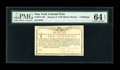 Colonial Notes:New York, New York January 6, 1776 (Water Works) 2s PMG Choice Uncirculated64 EPQ....