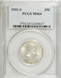Washington Quarters: , 1932-S 25C MS64 PCGS. PCGS Population (917/96). NGC Census:(494/59). Mintage: 408,000. Numismedia Wsl. Price for NGC/PCGS ...