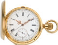 Timepieces:Pocket (pre 1900) , Moulinie & Le Grand Roy Fine Gold Chronograph, circa 1873. ...