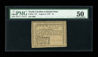 North Carolina August 8, 1778 $1 PMG About Uncirculated 50