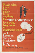 Memorabilia:Poster, The Apartment Movie Poster (United Artists, 1960)....