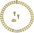 Estate Jewelry:Suites, Diamond, Gold Jewelry Suite, Cassis. ... (Total: 4 Items)