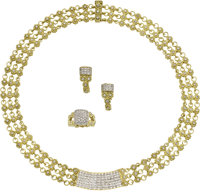 Diamond, Gold Jewelry Suite, Cassis