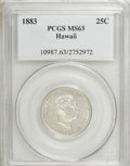 Coins of Hawaii: , 1883 25C Hawaii Quarter MS63 PCGS. PCGS Population (252/547). NGCCensus: (131/370). Mintage: 500,000. (#10987)...