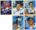 Autographs:Sports Cards, New York Yankees Greats Signed Cards Group Lot of 5....