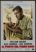 "Movie Posters:Academy Award Winner, The Bridge On The River Kwai (Columbia, 1958). Italian Photobusta(18.5"" X 26.5""). Academy Award Winner...."