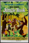"Movie Posters:Animated, The Jungle Book (Buena Vista, 1967). One Sheet (27"" X 41"")Flat-Folded. Animated...."