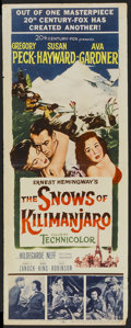 "Movie Posters:Adventure, The Snows of Kilimanjaro (20th Century Fox, 1952). Insert (14"" X36""). Adventure...."