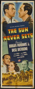 "Movie Posters:Adventure, The Sun Never Sets (Universal, 1939). Insert (14"" X 36"").Adventure...."
