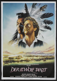 "Dances With Wolves (Neue Constantin Film, 1990). German A1 (23"" X 33""). Academy Award Winner"