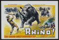 "Movie Posters:Adventure, Rhino! (MGM, 1964). Belgian (14"" X 21.5""). Adventure...."